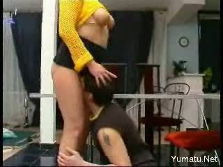 mature hot stimulating mature with boy