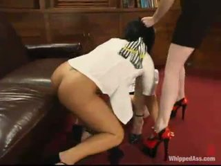 heetste caning video-, nominale over de knie spanking, kwaliteit whipping klem