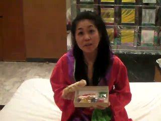 יפני masturbation עם higozuiki bijin דילדו