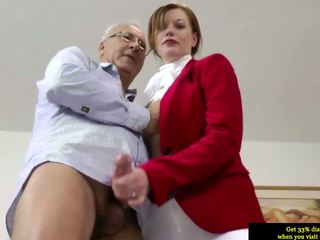 Brits Initiate Pussyfucked By An Aged Mans Huge Cock