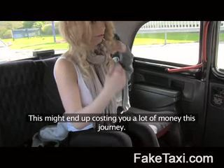 Hot blonde tourist in first time blowjob