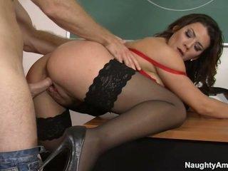 brunette, college, student, sex