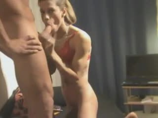 Threesome act with a homemade crossdresser