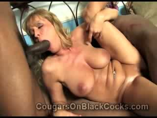 Very lustful mature blonde bitch Nicole Moore gets fucked by big black man