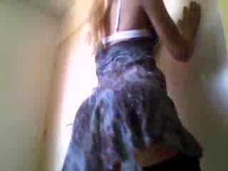 Crossdresser showing a sexy ass