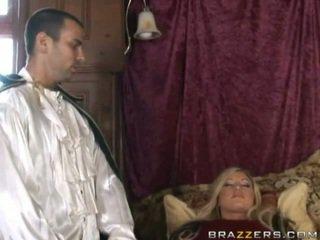 bed, online stijlvol scène, mooi lingerie