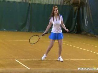 Tennis-teacher's Balls Are Used By Two Slutty Students For Playing A Love Game