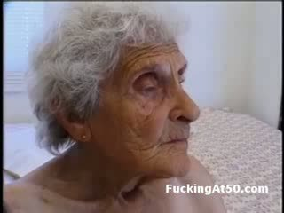 Senile wrinkled granny gives Blow Job and is fucked by deviant freak