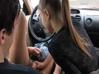 elegant blowjob in my car
