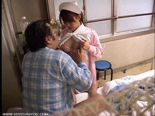 아시아의 여자 간호사 뱃사공 섹스
