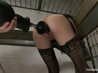 Constrained hasta cytherea has toyed en su sensuous clam en cárcel