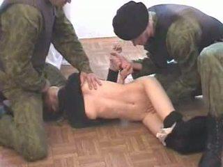 Two 군대 men brutalize terrorist 비디오