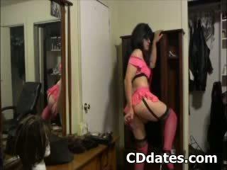 online crossdresser, gratis lingerie thumbnail, meer eigengemaakt scène