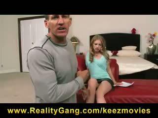 Horny young redhead Avril Hall fucks her ex-boyfriend on camera