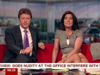 Susanna reid playing with bayan mainan on breakfast tv