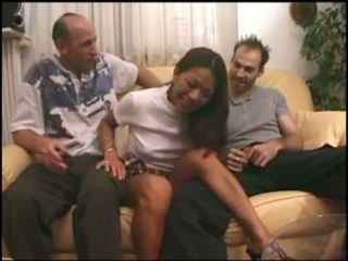 French asian gangbanged in all holes Video
