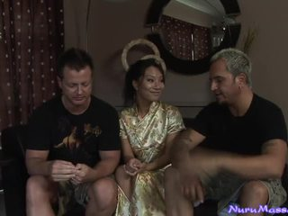 Asa Akira doing Nuru Massage