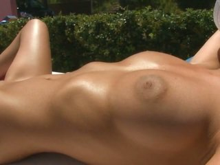 Shaved Pussy Nude Honey Lily Sunbathing