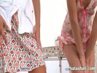Two रशियन dolls न्यूड grass