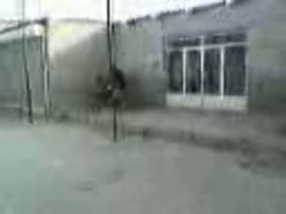 Arab momen körd på den gata video-