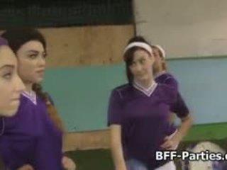 Teen Lesbian Soccer Team Licks Pussy
