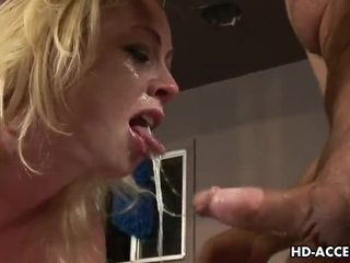 blowjob, deep throat great, gyzykly blonde real