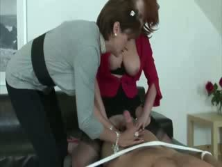 Lady Sonia and her friend take control of their subjects cock