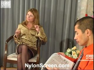 Alice And Nathan Vivid Nylon Action