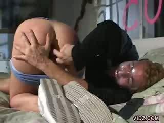 Bitch Sandie Caine delights in cock sucking