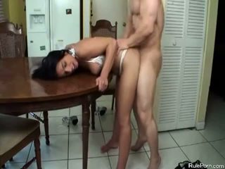 Hot Mom Gets Fucked In The Kitchen