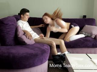 Moms Teach Sex - Horny mom teaches stepdaughter how to fuck