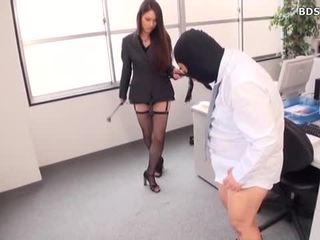 Femdom Mistress Strap On At Office