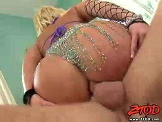 Breasty Blond GeorGia Peach Gets Asspounded And Gets A Messy Cumshot