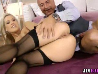 Euro babe in stockings