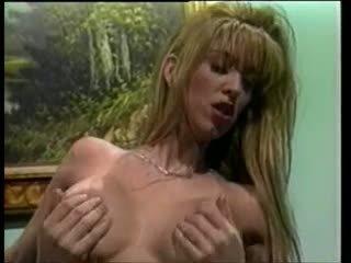 Classic Beautiful blonde bimbo scene.