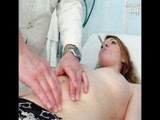 Helga Gyno Chuf Speculum Scrutiny Onto Gynochair At Kinky Clinic