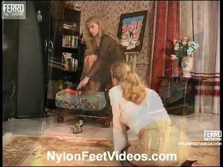 DiAna And Florence Nice Stockings Feet Scene