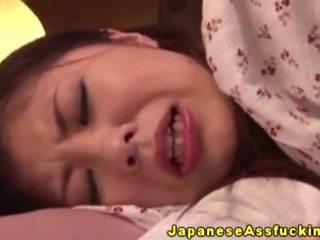 Asiática japonesa madura en anal jugar