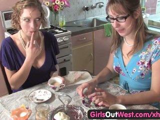 Cute Australian lesbians lick their pink holes