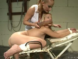 Katy Borman Pumped The Ass Of Hot Babe With Dildo