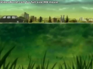 Youthful Anime Paramours Fuck On The Meadow