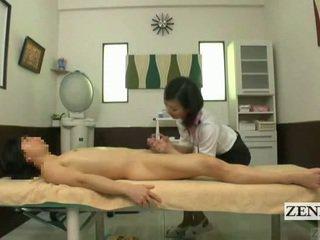 Subtitled Cfnm Japanese Massage With Sensual Handjob