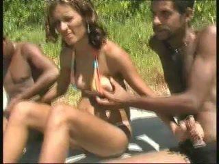 brazilian, black and ebony, gangbang, public nudity