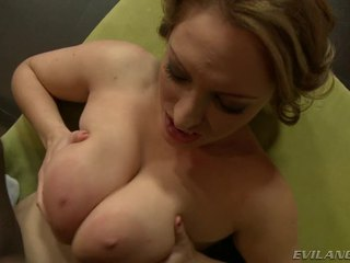 Horny Wench Has Her Massive Breasts Drilled By Big Black Cock!