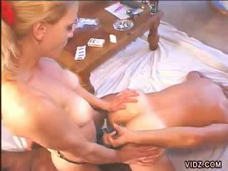 Blond girl and two bisexuals
