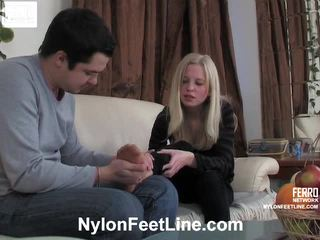 Paulina And Adam Pantyhose Footfuck Film