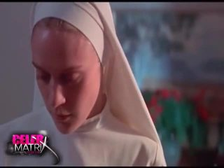 Chloe Sevigny Lifting Up Her Nun's Outfit As The Guy Pulls Down Her Undies To Reveal Her Bush. She Then Lays Back Onto The Table As The Guy Pulls Up Her Clothe To Reveal Her Well Breast Before Entreat