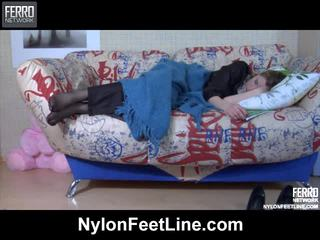 Vivian And Nicholas Nylon Footfuck Video