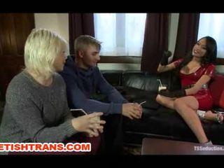 Sexy TS Jessica Fox Fucks Husband and Wife
