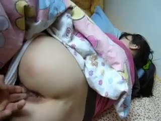 Sleeping Asian Gets Facial Cumshot